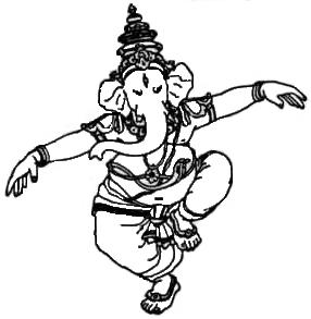 El Señor Ganesha aparece en flor